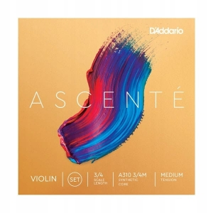 Daddario A310 3/4M Ascente violin set 3/4 medium struny do skrzypiec